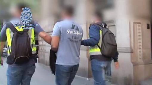 Piotr Levashov, durante su arresto en Barcelona