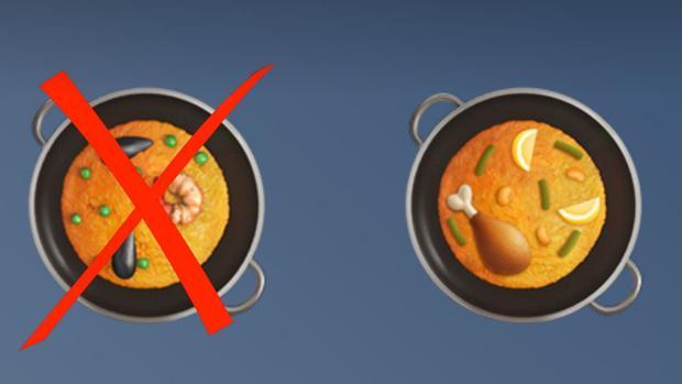 Apple se rinde ante los españoles y cambia el «emoji» de la paella por la auténtica receta valenciana