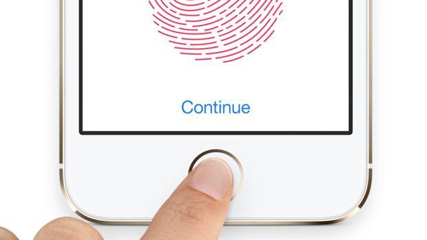 Detalle del sistema de huellas digitales Touch ID implantado por la firma americana