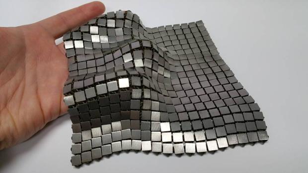 El tejido creado a través de impresión 4D