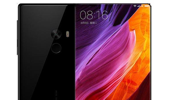 Detalle del teléfono móvil Xiaomi Mi Mix