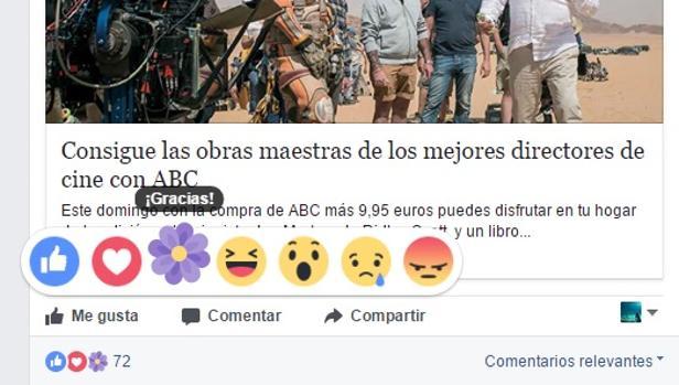 «Gracias, mamá»: la nueva reacción (temporal) de Facebook