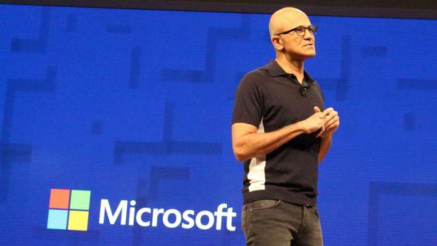 Satya Nadella, jefe ejecutivo de Microsoft, durante su intervención
