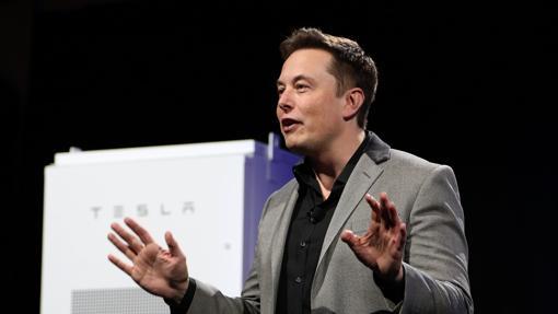Elon Musk, durante una intervención con Tesla