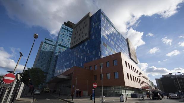 Vista del Royal London Hospital, en el centro de Londres, Reino Unido