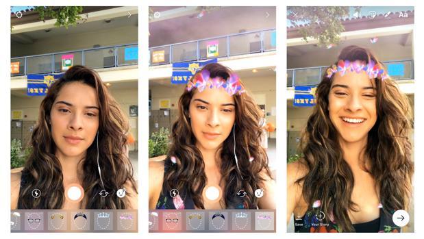 Instagram lanza las máscaras para personalizar los «selfies» como ya hace Snapchat