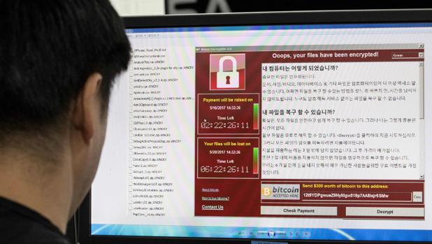 Detalle de cómo aparece el secuestro de datos virtual de WannaCry