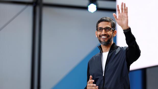 Sundar Pichai, director general de Google, durante la conferencia