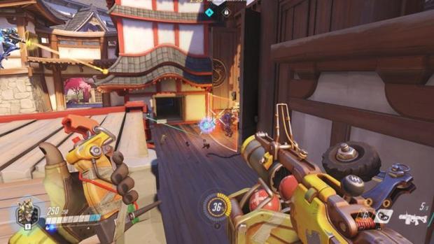 Captura del videojuego de disparos «Overwatch»