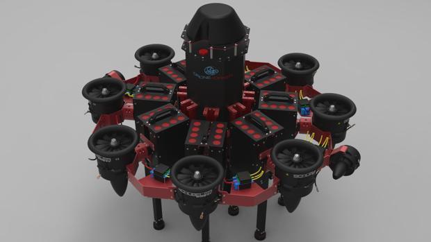 Aeronave no tripulada diseñada por Drone Hopper