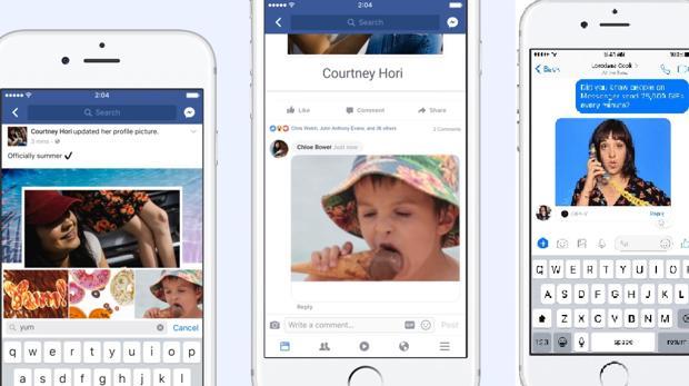 Facebook permite a los usuarios poner animaciones GIF en los comentarios