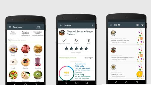App movil comida perder peso