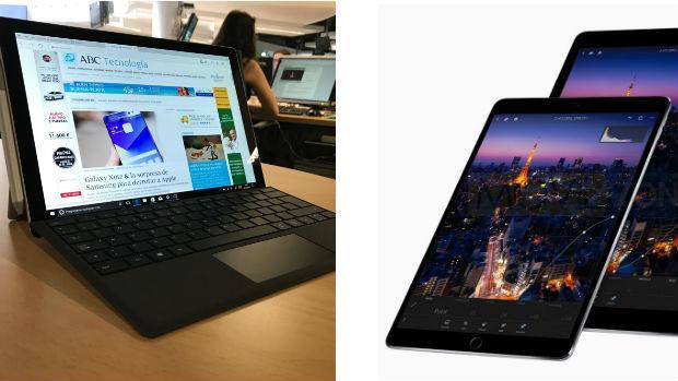 Surface Pro frente al iPad Pro: dos caminos distintos para un mismo fin