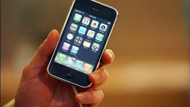 Detalle del iPhone 3G, un modelo ya discontinuado lanzado en 2008
