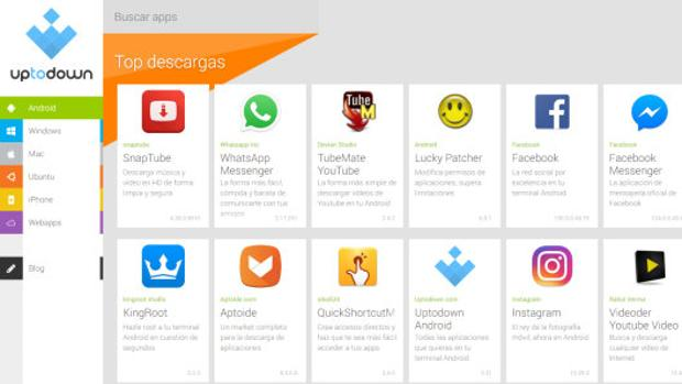 Las aplicaciones de Android más descargadas en Uptodown.com