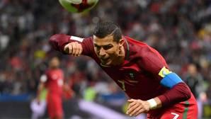 Cristiano Ronaldo, durante un encuentro con su selección, Portugal