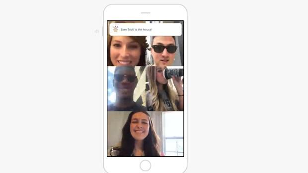 Captura de pantalla de la app «Houseparty»
