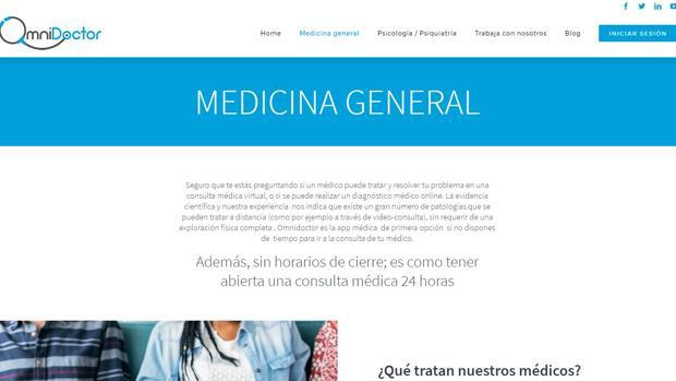 Las consultas también se pueden realizar en la web de Omnidoctor