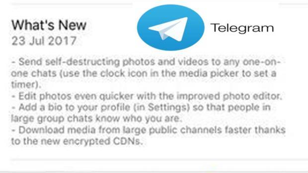 Telegram adopta la mensajería efímera para seguir compitiendo contra Whatsapp y Facebook Mesenger