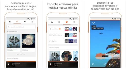 Captura de pantalla de SoundCloud