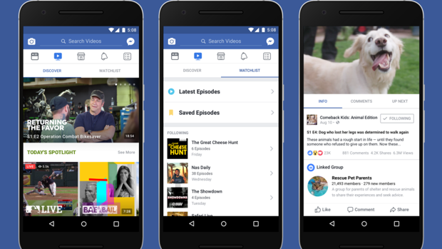 Llega Facebook Watch, un «YouTube» integrado en la red social