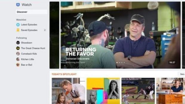 Facebook presenta Watch, su propia plataforma de series y programas originales