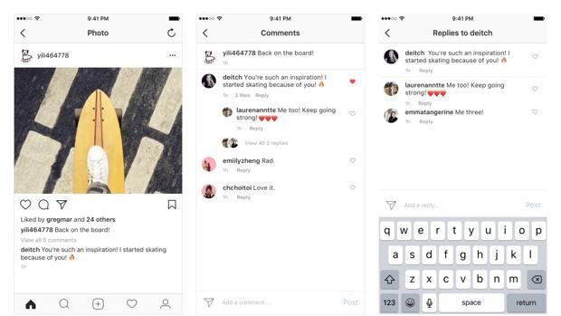 Instagram renueva el formato de los comentarios