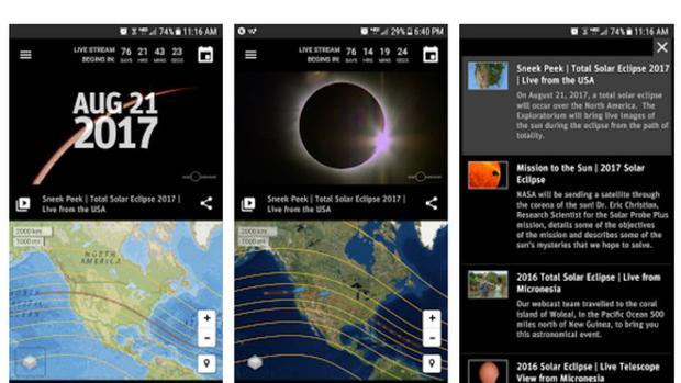 Eclipse de Sol desde tu smartphone con una aplicación o Internet
