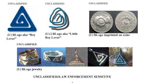 Documento desclasificado del FBI de los símbolos que utilizan los pedófilos