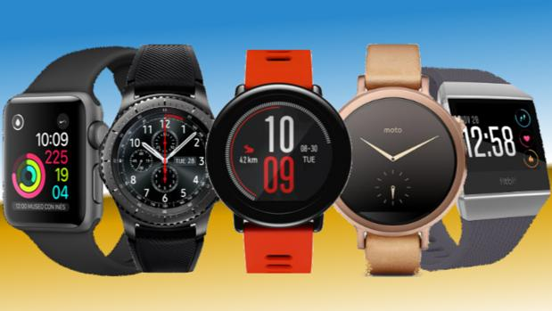 Smartwatches de distintas marcas, entre ellas, Apple, Samsung o Fitbit