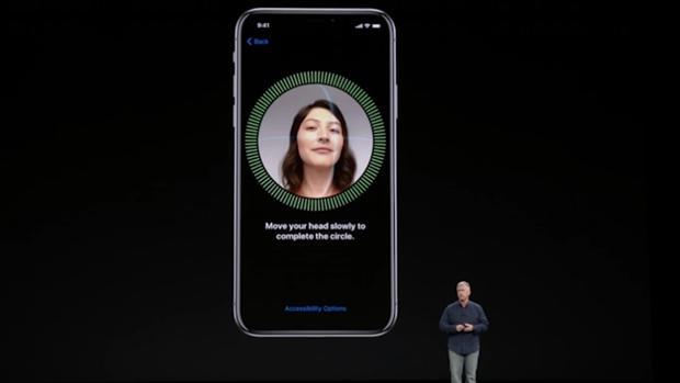 Presentación del sistema Face ID del iPhone X