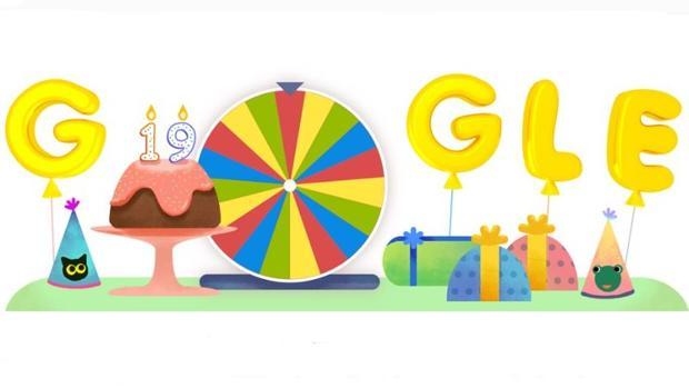 Así es la ruleta de la fortuna del 19 cumpleaños Google, un doodle con juegos tradicionales
