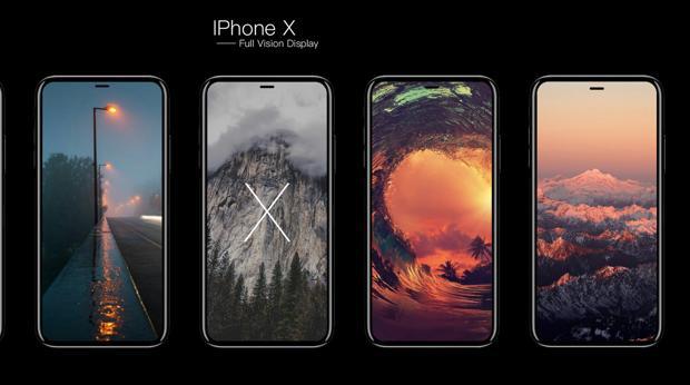 Detalle del iPhone X, próximo modelo de iPhone de la firma americana