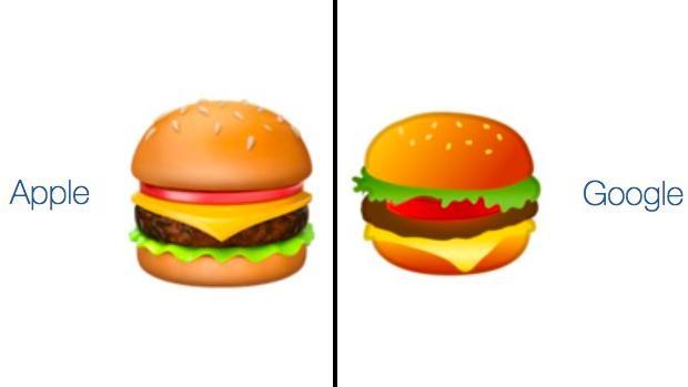 El emoticono de la hamburguesa enfrenta a Google y Apple, ¿quién tiene razón?