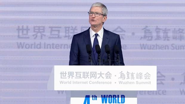Tim Cook, consejero delegado de Apple en la inauguración de la cuarta edición de la Conferencia Mundial sobre Internet