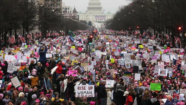 La Marcha de Mujeres en Washington reunió a más de 500.000 personas a través del evento más grande de Facebook en 2017