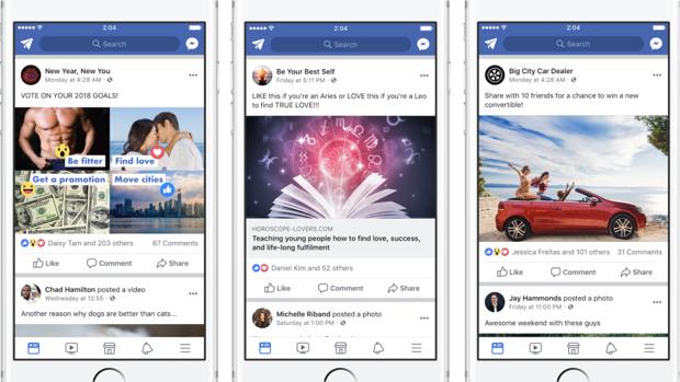 Facebook penalizará a las páginas que piden «me gusta»