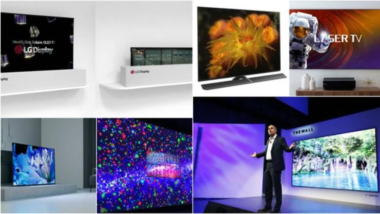 Enrollables, modulares, con 8K y con Inteligencia Artificial: así serán los televisores a partir de 2018