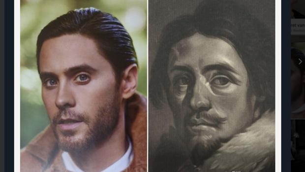 Una imagen del actor Jared Leto comparada con la base de datos de Google Arts & Culture