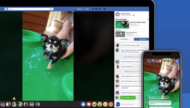Facebook prepara una función para ver vídeos en grupo