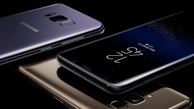 Detalle del Galaxy S8, actual buque insignia de la firma surcoreana
