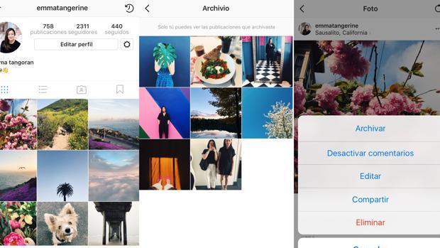 Cómo archivar fotografías y videos antiguos en Instagram