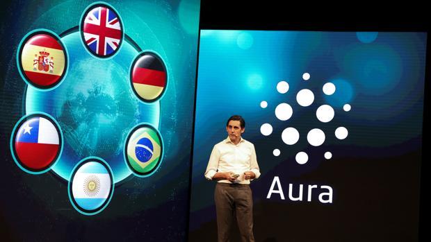 Jose Maria Alvarez-Pallete, presidente de Telefónica, durante su presentación