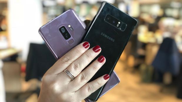 Detalle de los nuevos Galaxy S9 Plus y el Note 8 lanzado el año pasado
