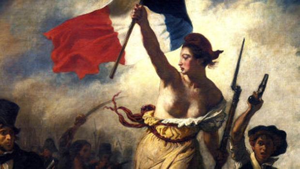 Este cuadro de «La Libertad guiando al pueblo» fue censurado por Facebook este año