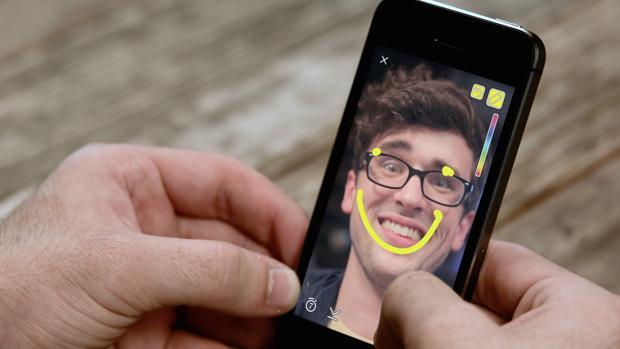 Detalle de una imagen en Snapchat