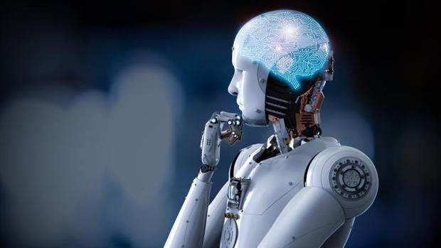 Representación de una inteligencia artificial integrada en un robot