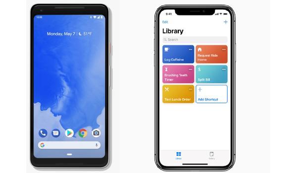 Comparativa entre Android P y iOS 12