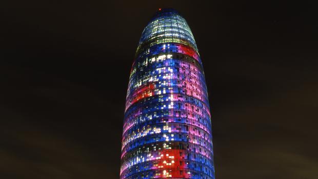 Panorámica de la Torre Glóries, anteriormente conocida como Torre Agbar, en Barcelona