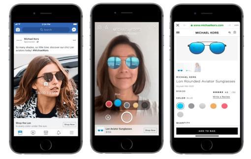 Facebook prueba ahora con la realidad aumentada (pero en los anuncios)